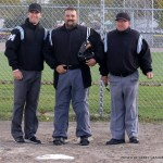 Chris Marco, Chris Walters, and John Doyle prior to a high school playoff game in October, 2014