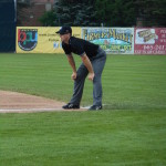 Chris Marco working the New York-Penn League in Jamestown, New York on August 2, 2014
