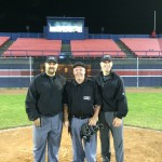 Walters, Tunney, and Marco following an IBL game at Bernie Arbour Stadium on June 13, 2014